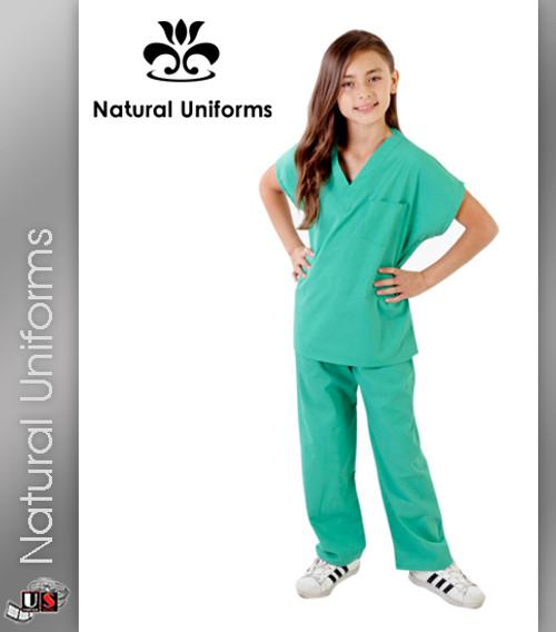 Natural Uniforms Childrens Unisex Solid Scrubs Set