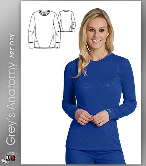 Grey's Anatomy™ Arc Dry Long Sleeve Burnout Fashion Tee