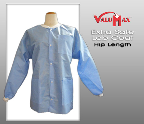 ValuMax Lab Coat Extra-Safe™ Long Sleeve Hip Length Lab Coat ( 10 Pcs / Bag )