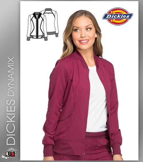 Dickies Dynamix Womens Zip Front Warm-Up Jacket