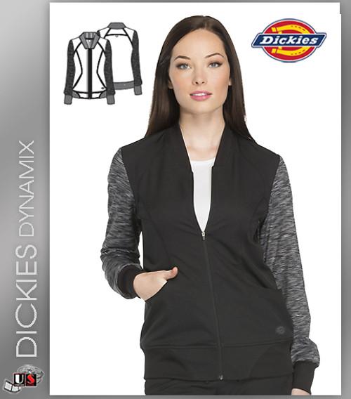 Dickies Dynamix Women's Zip Front Warm-Up Jacket Black