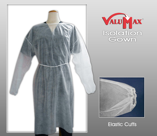 ValuMax Isolation Gowns - Elastic Cuffs Latex Free ( 50 Pcs / Case )
