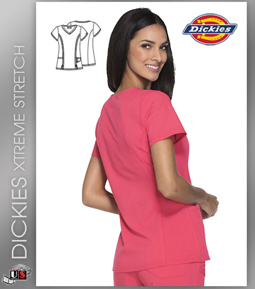 Dickies Xtreme Stretch Original Junior Fit V-Neck Top