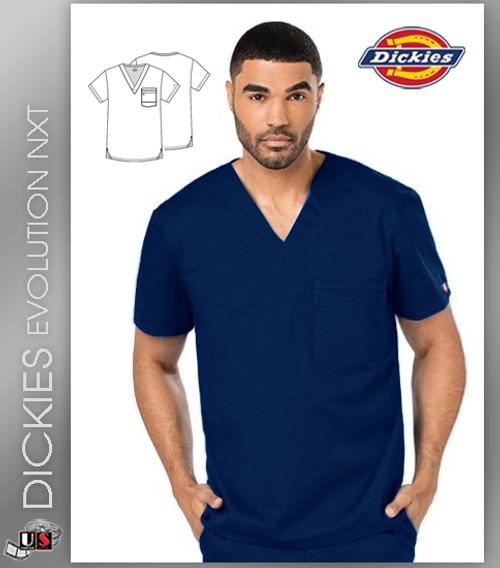 Dickies Evolution Men's Double Chest Pocket V-Neck Top