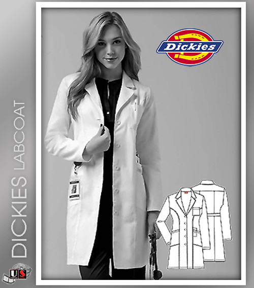 "Dickies 37"" Women's Original Junior Fit Lab Coat"