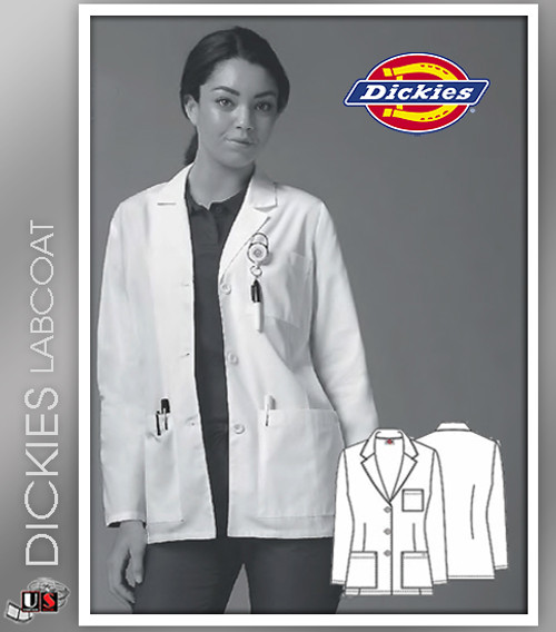 "Dickies 28"" Missy Fit Women's Consultation Lab Coat"