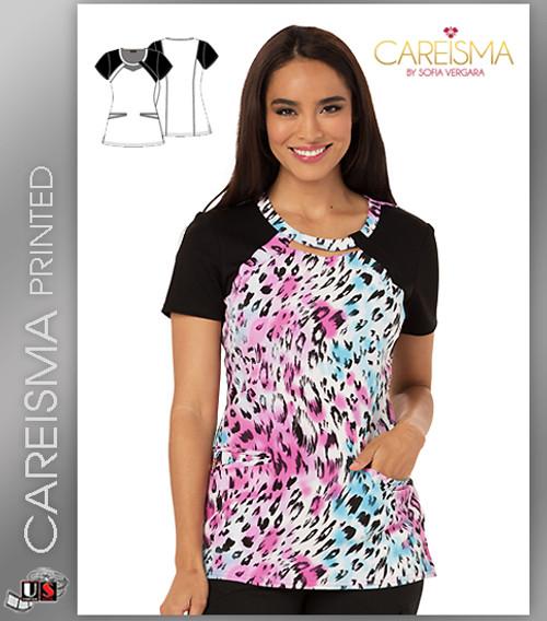 Careisma Printed La Vida Leopard Women's Round Neck Top