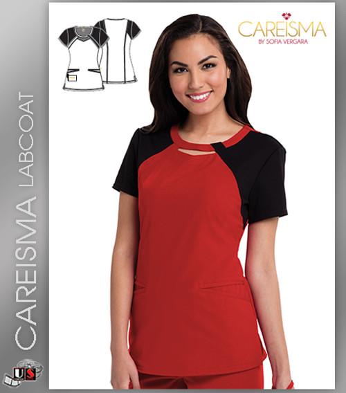 Careisma Women's Round Neck Short Sleeve Top