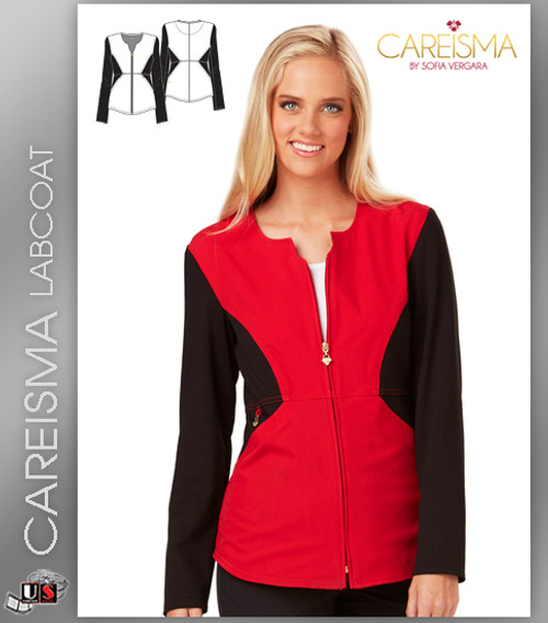 Careisma Women's Notched Crew Warm Up Jacket