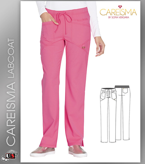 Careisma Women's Low Rise Straight Leg Drawstring Pant