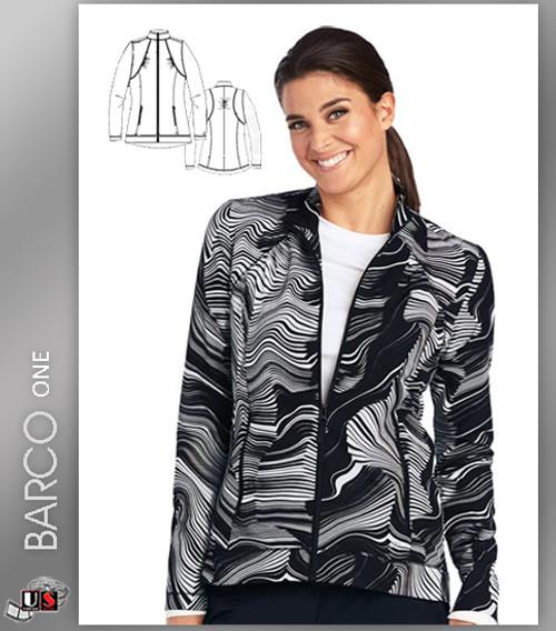 Barco One Origami Print Scrub Jacket