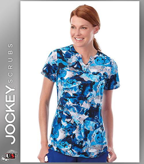 Jockey Scrubs Women's V- Neck Ice Beauty Print Scrub Top