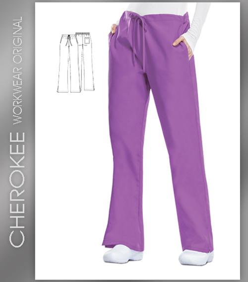 Cherokee Workwear Originals Women's Natural Rise Flare Leg Scrub Pants