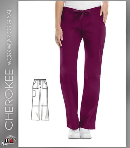 Cherokee Workwear Originals Low Rise Drawstring Cargo Pant