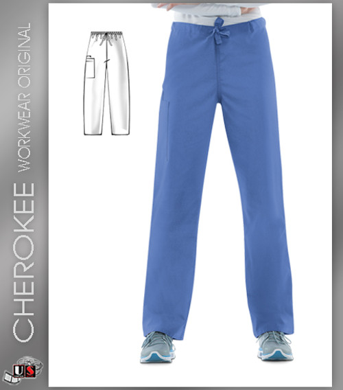 Cherokee Workwear Originals Unisex Drawstring Cargo Pant