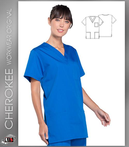 Cherokee Workwear Originals Unisex V-Neck 3-Pocket Scrub Top
