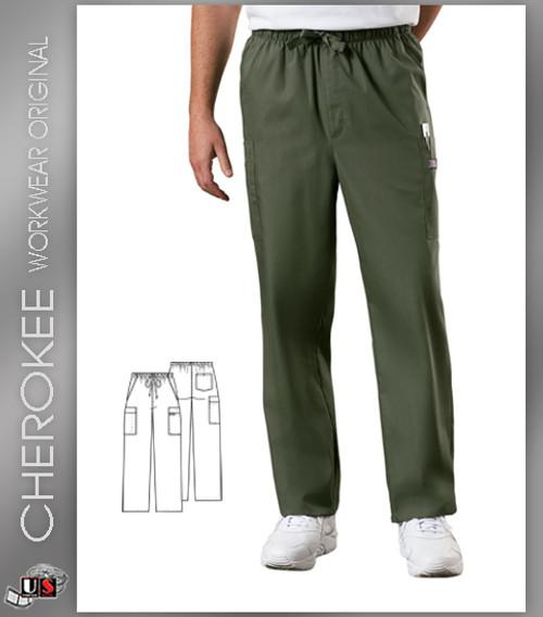 Cherokee Workwear Originals Men's Drawstring Cargo Pant