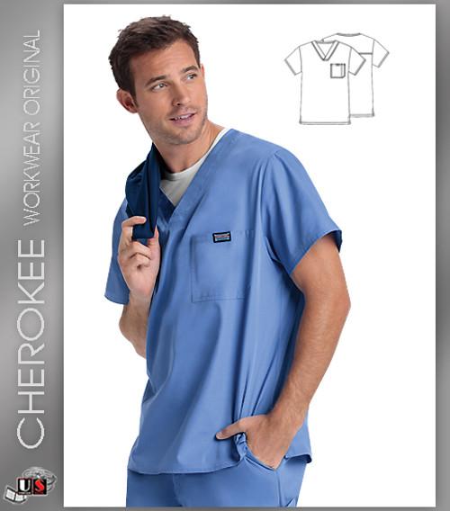 Cherokee Workwear Originals Men's V-Neck Top