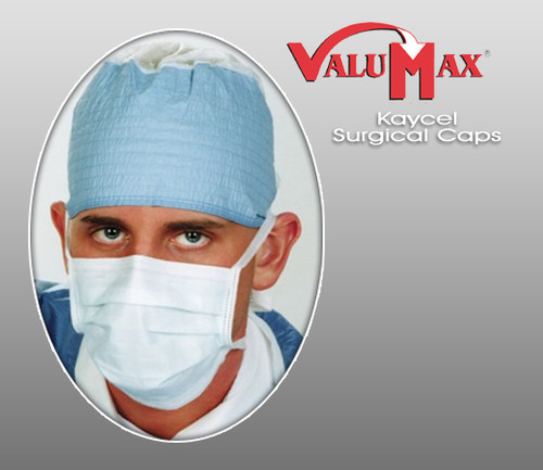 ValuMax Kaycel Non-Woven Surgical Caps  ( Pack of 100 )