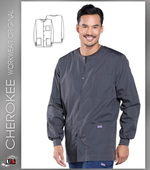 Cherokee Workwear Originals Men's Snap Front Warm-Up Jacket