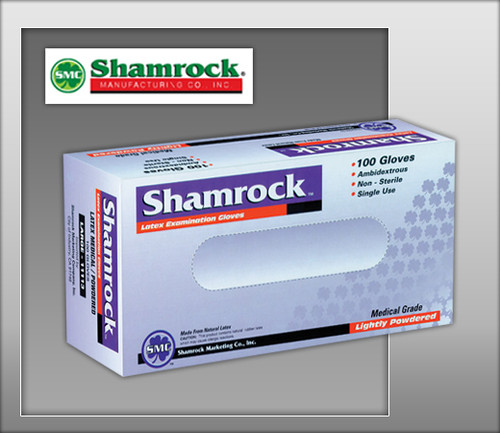 Shamrock Powder Free Latex Examination GLoves – Textured - 10000 Series - 100 GLoves / BOX