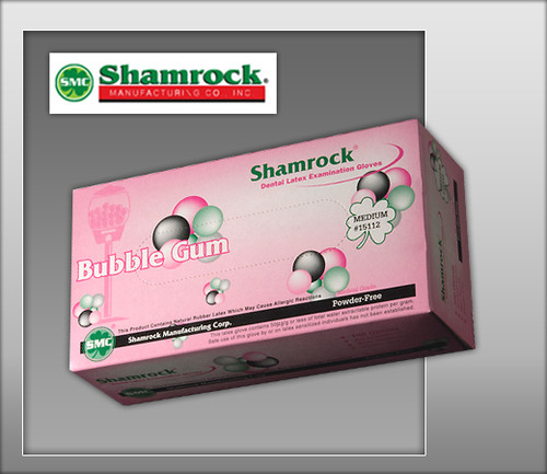 Shamrock Bubble Gum Flavor Powder Free Latex Examination Gloves – Textured - 15000 Series - 100 Gloves / Box