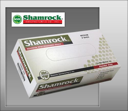 Shamrock Powder Free Industrial Clear Vinyl Gloves - 66000 Series - 100 Gloves / Box