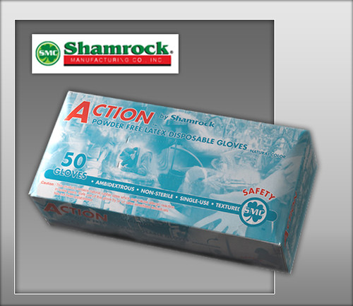 "Shamrock High Risk Industrial Safety Gloves Powder Free Latex Fully Textured - 12"" Cuff - 69000 Series  - 50 Gloves / Box"