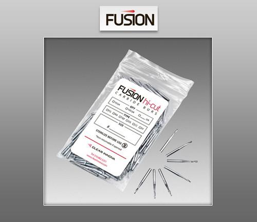 Fusion Hi-Cut Burs – Latch Type (RA) Carbide Burs 100 / Pack