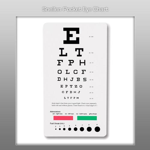 Prestige Snellen Pocket Eye Chart