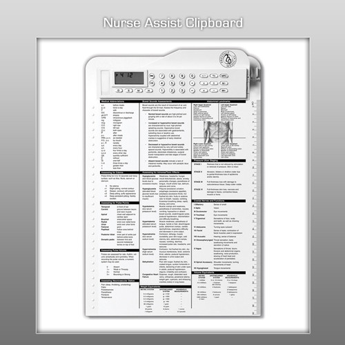 Prestige Nurse Assist Clipboard - White