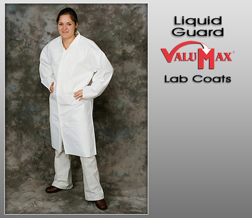 ValuMax Liquid Guard Breathable 3 Pockets Knit & Collar Cuffs Lab Coats