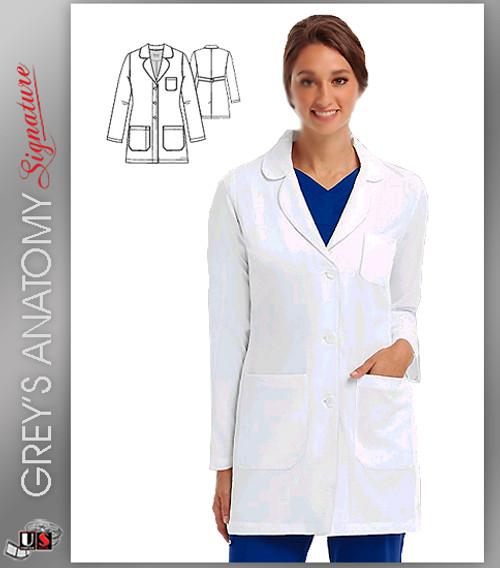 """Grey's Anatomy™ Signature w/ 4-Way Stretch 32"""" Women's Lab"""