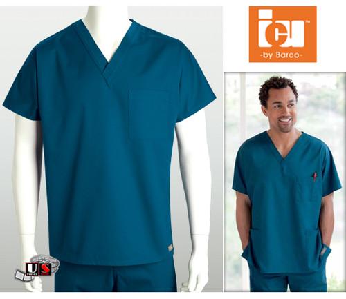 ICU Barco Solid Scrubs 1 Pocket Unisex V-Neck Top
