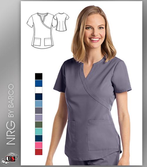 Barco NRG arcFlex™ Scrub Uniform 2 Pocket Mock Wrap