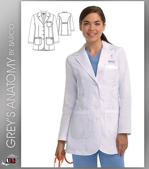 Grey's Anatomy  Women's 32˝ 3 Pocket Button Front Lab Coat