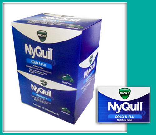 Vicks Nyquil Cold & Flu Relief LiquiCaps Nightime Relief 20CT