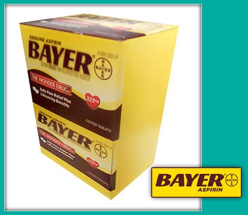 Genuine Bayer Aspirin Pain Reliever, 325mg Tablets - The Wonder Drug 50CT