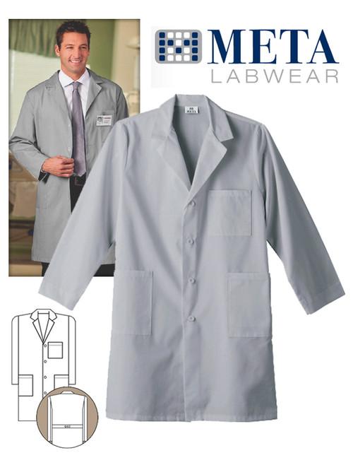 "Meta Labwear Unisex 40"" Labcoat - Silver"