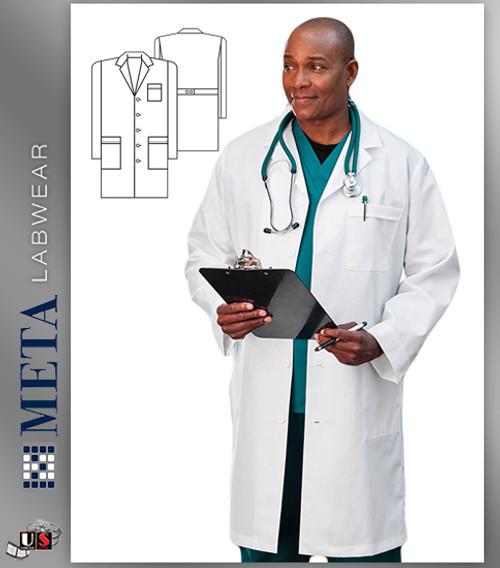 """17020 Meta Labwear Nano-Care 39"""" Mens Labcoat"""