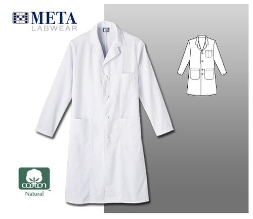 "Meta Labwear Men's 45"" Knot Button Labcoat"
