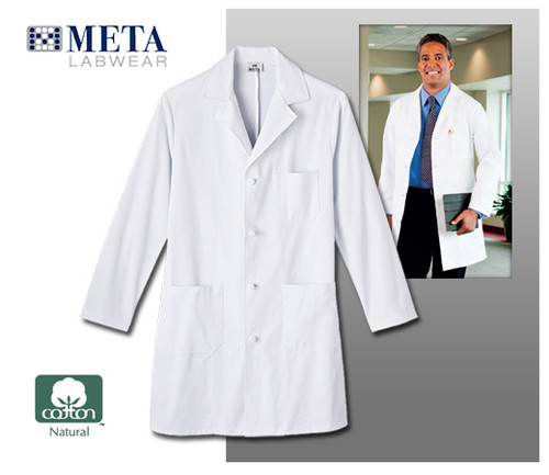 "Meta Labwear Men's 38"" Knot Button Labcoat"