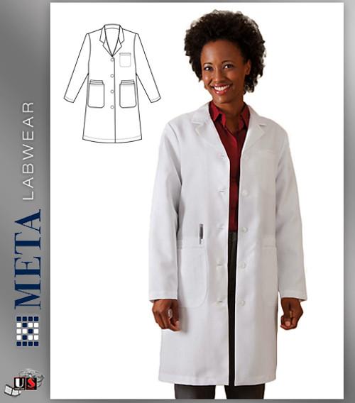 "863 Meta Ladies 37"" Xstatic® Labcoat"