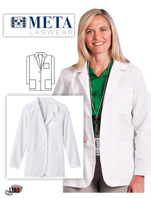 "META Labwear Women's 3-Pocket Consultation 28"" Lab Coat"