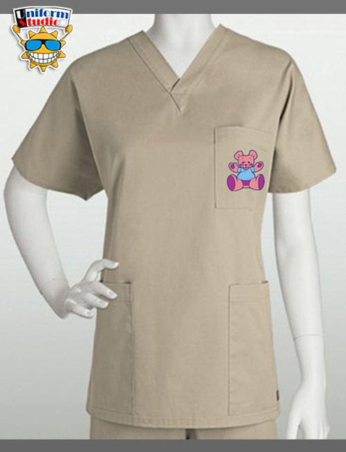 Uniform Studio Unisex V-Neck Top Bear