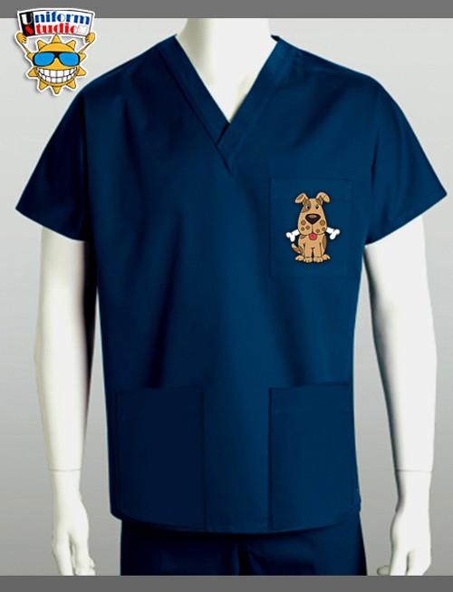 Uniform Studio Unisex V-Neck Top Dog