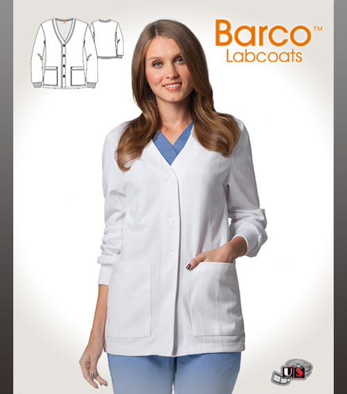 """Barco's  29"""" Knit Warm Up Short Length Lab Jacket"""