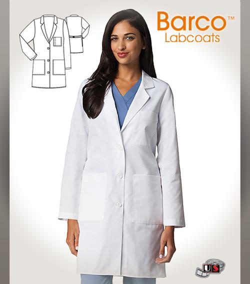 """Barco's 38"""" Women's 5 Pocket Long-Length Labcoat"""