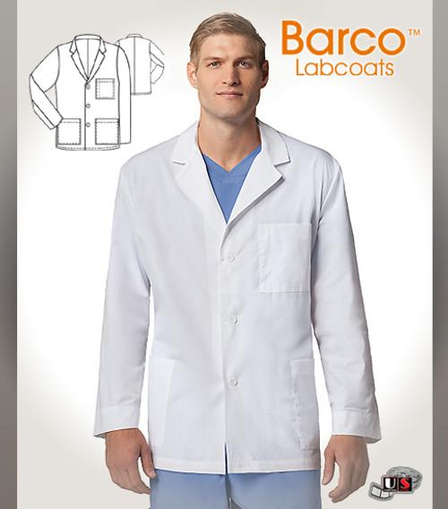 "Barco White Barco 31"" Unisex  3 Pockets Labcoat"