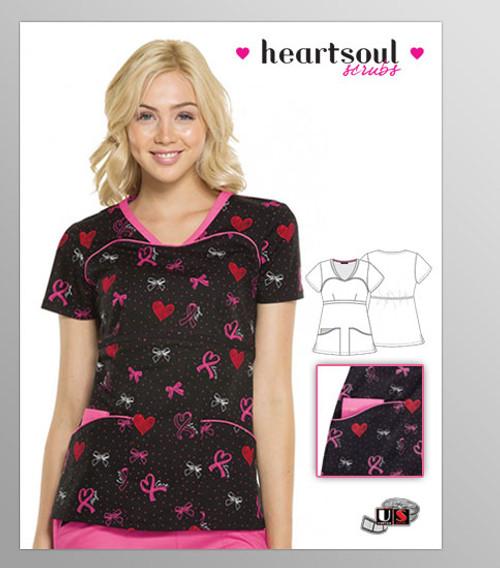 HeartSoul Breast Cancer Awareness Hope V-Neck Top